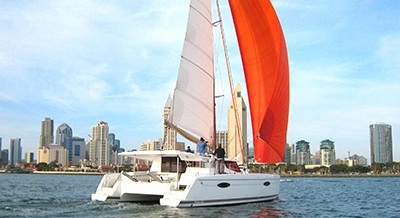 Catamaran Spinnaker Clinic: Taming the Pretty Sail